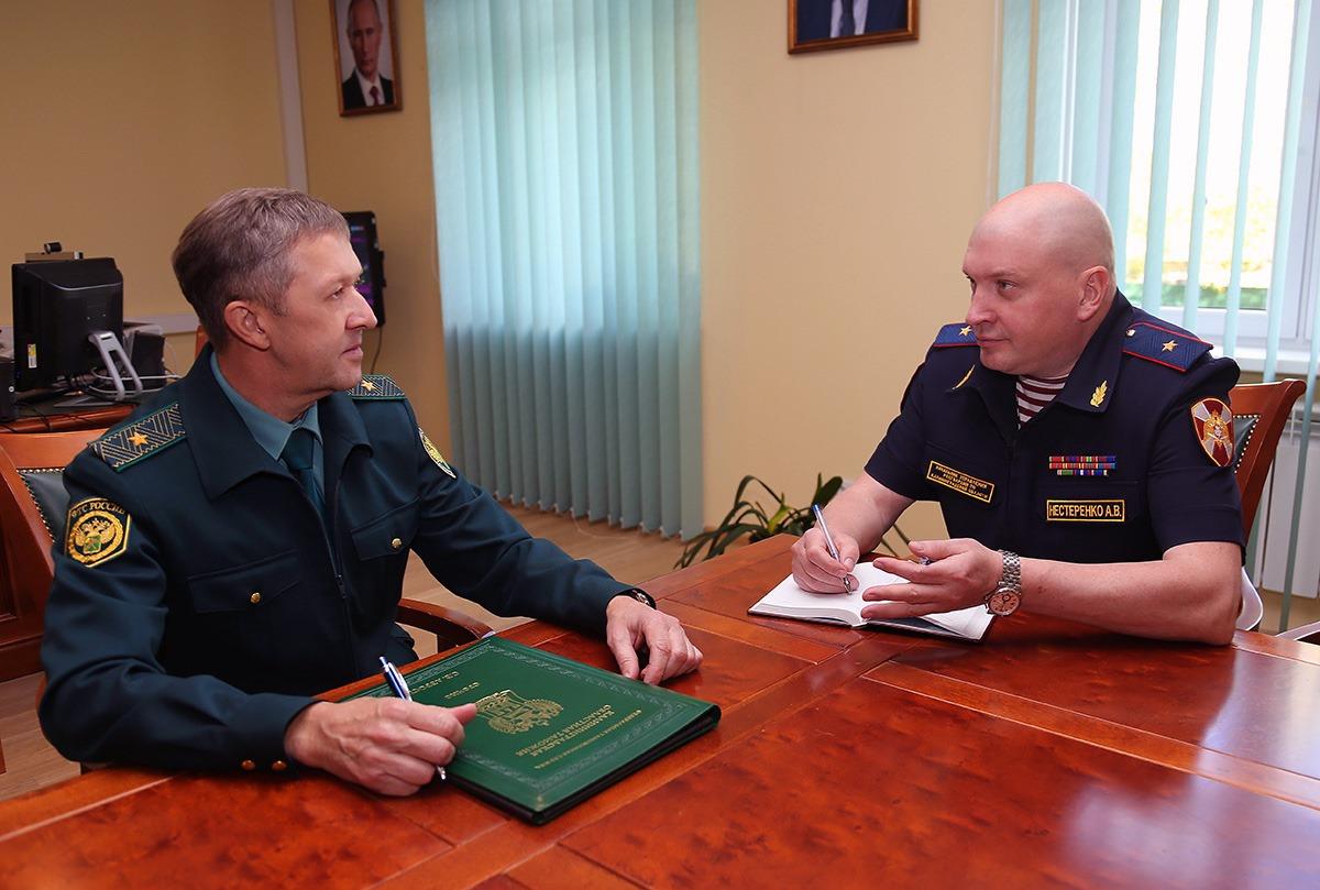 В Калининграде встретились начальники управления Росгвардии и Калининградской областной таможни